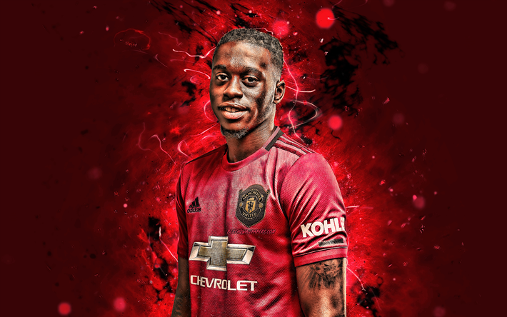 Download Wallpapers 4k Aaron Wan Bissaka 2019 Manchester United Fc English Footballers Neon Lights Premier League Wan Bissaka Soccer Football Man United For Desktop Free Pictures For Desktop Free