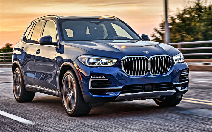 Download Wallpapers 2019, BMW X5, Exterior, New Blue X5