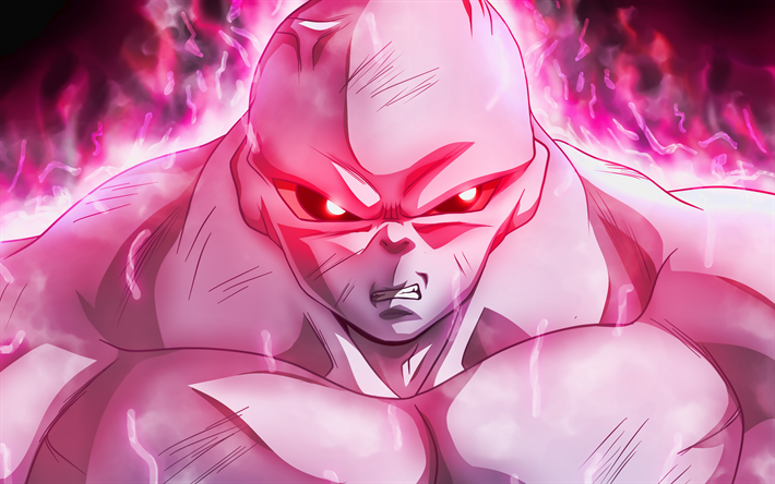 4k, Jiren, roxo fogo, mangá, DBS caracteres, Dragon Ball, obras de arte, Dragon Ball Super, Jiren 4K, DBS, Jiren Dragon Ball