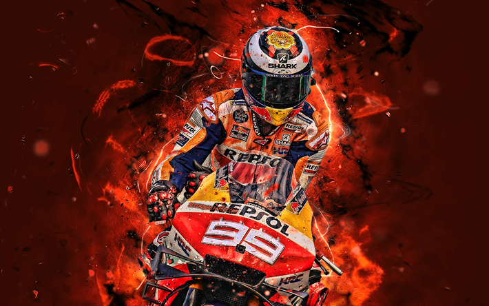Download Wallpapers Jorge Lorenzo 4k Fan Art Motogp 2019