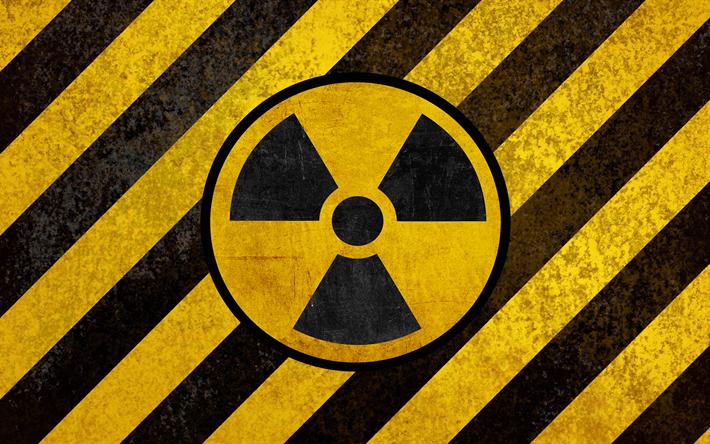Download Wallpapers Sign Of Radiation Hazard Symbols 4k Yellow