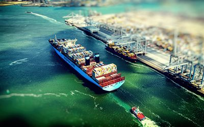 Morten Maersk, Container Ship, top view, Danish cargo ship, cargo transportation, cargo delivery concepts, cargo ships, Maersk Line