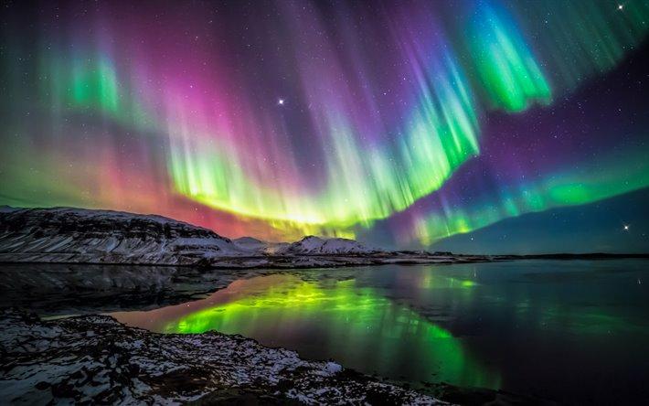 Scarica sfondi aurora polare l 39 aurora boreale fenomeno for Sfondi desktop aurora boreale
