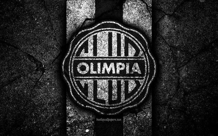 Download Wallpapers 4k Fc Olimpia Asuncion Logo Paraguayan