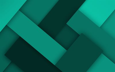 turquoise lines, 4k, material design, creative, geometric shapes, lollipop, lines, turquoise material design, strips, geometry, turquoise backgrounds