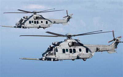 Airbus Helicopters H225M, Eurocopter EC725, military transport helicopter, modern transport helicopter, Airbus