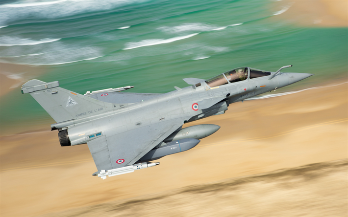 Download wallpapers Dassault Rafale, French fighter, French