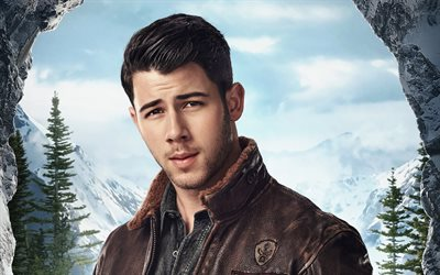 Nick Jonas, american actor, portrait, photoshoot, poster, Jumanji The Next Level