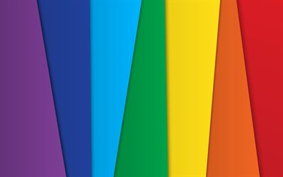 rainbow background, 4k, material design, geometric shapes, colorful lines, geometry, colorful backgrounds, creative, strips, abstract art
