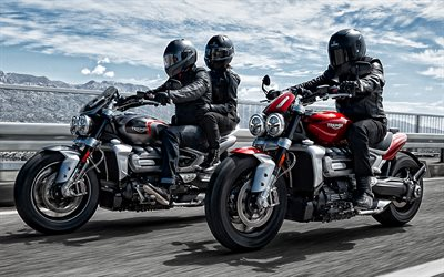 Triumph Rocket 3, 2020, new motorcycles, new red Rocket 3, new black Rocket 3, Triumph