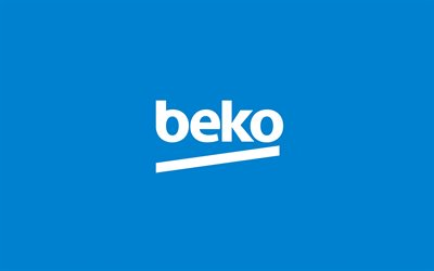 Beko, Turkish brand, Beko logo, emblem, Beko logo on blue background