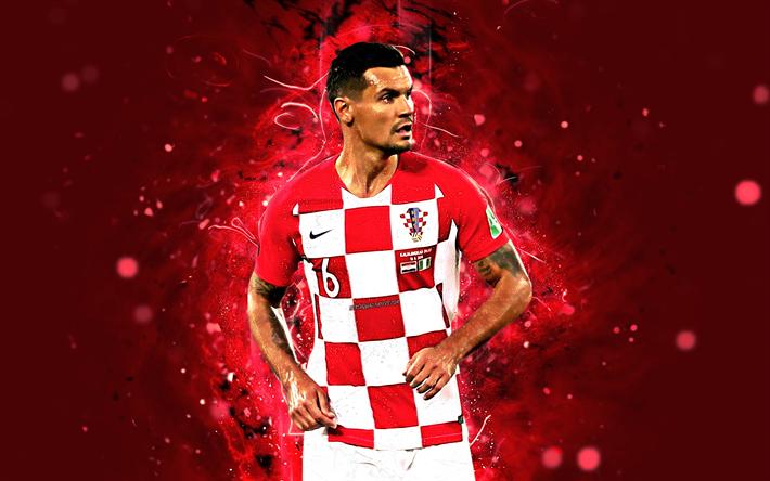 Indir Duvar Kağıdı Dejan Lovren, 4k, Maç, Hırvatistan