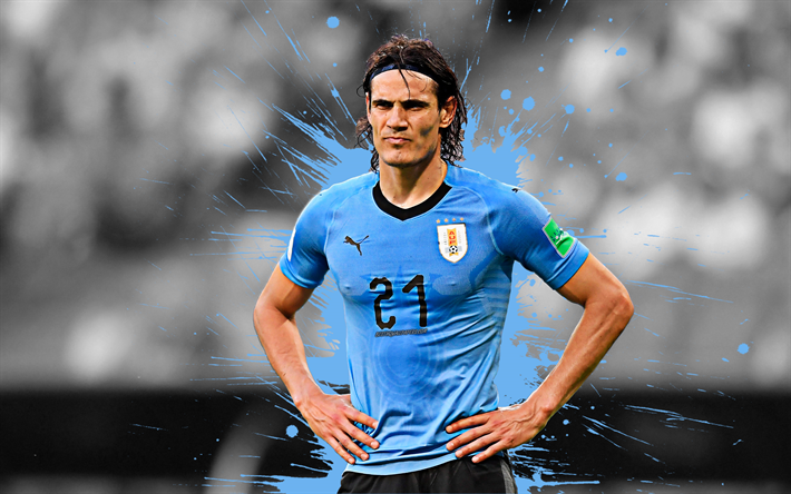 pretty nice 02cf1 8b1e3 Download wallpapers Edinson Cavani, 4k, Uruguay national ...