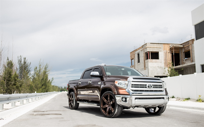 Download wallpapers Toyota Tundra, 2018, Pickup truck