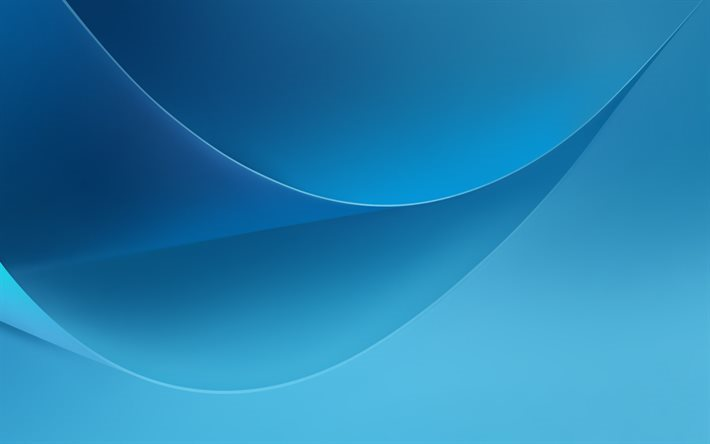 Blue Wave, blue abstraction, blue background