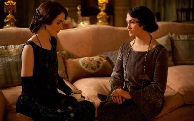 Downton Abbey Jessica Brown Findlay, Mary Crowley, Sybil Crawley, des actrices, des personnages, Michelle Dockery