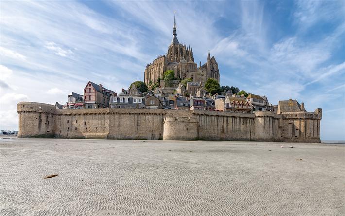 Download Wallpapers Le Mont Saint Michel Island Fortress