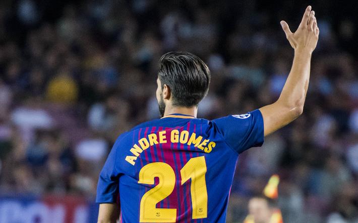 Descargar Fondos De Pantalla Andre Gomes, 4k, El FC