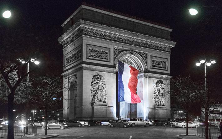Download Wallpapers Arc De Triomphe, Paris, France