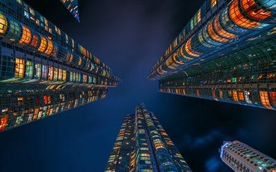download wallpapers seoul modern buildings skyscrapers
