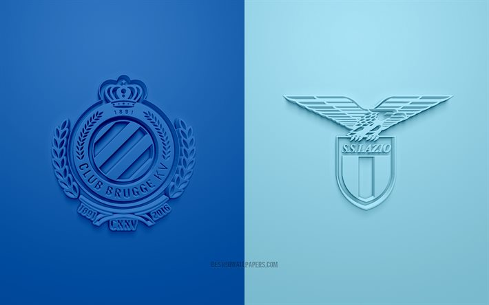 download wallpapers brugge vs ss lazio uefa champions league group f 3d logos blue background champions league football match club brugge ss lazio for desktop free pictures for desktop free download wallpapers brugge vs ss lazio