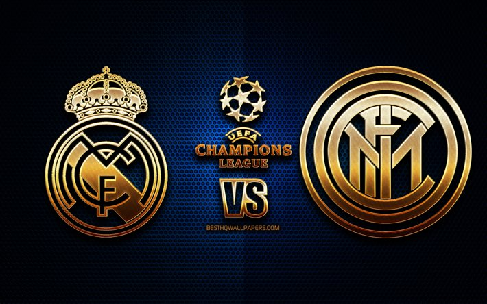 download wallpapers real madrid vs inter milan season 2020 2021 group b uefa champions league metal grid backgrounds golden glitter logo internazionale real madrid cf uefa for desktop free pictures for desktop free real madrid cf uefa