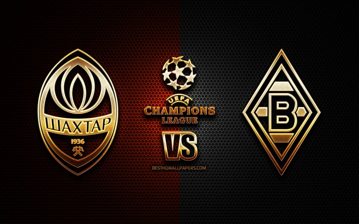 Download Wallpapers Shakhtar Donetsk Vs Borussia Monchengladbach Season 2020 2021 Group B Uefa Champions League Metal Grid Backgrounds Golden Glitter Logo Borussia Monchengladbach Fc Shakhtar Donetsk Uefa For Desktop Free Pictures For Desktop