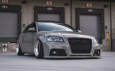 Audi A3 Sportback, tuning, BBS RS wheels, stance, tuning a3, Audi