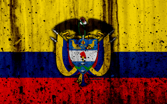 Colombian Flag 4k Grunge Flag Of Colombia South
