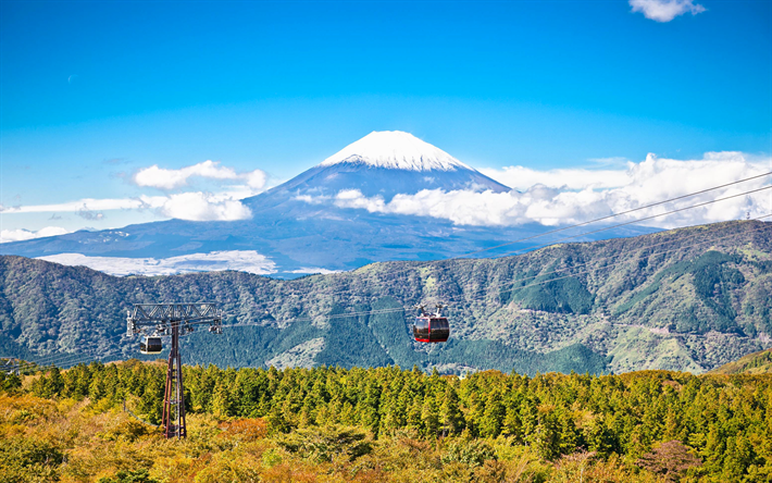 Download Wallpapers Mount Fuji Stratovolcano 4k Japanese