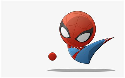 4k, Spidey, minimal, creative, Marvel Comics, superheroes, Spiderman
