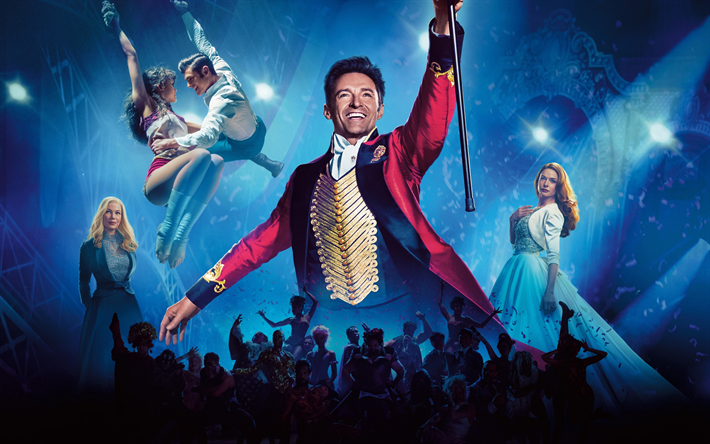 The Greatest Showman, 2017, poster, Hugh Jackman, Zendaya Coleman, Zac Efron, Phillip, Rebecca Ferguson, Michelle Williams