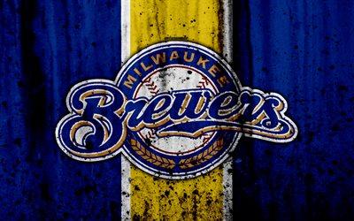 Download Wallpapers 4k Milwaukee Brewers Grunge