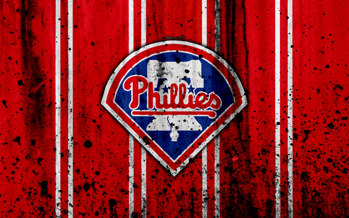 4k Philadelphia Phillies Grunge Baseball Club MLB America USA