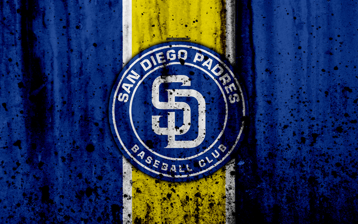 Download Wallpapers 4k San Diego Padres Grunge Baseball Club Mlb America Usa Major League Baseball Stone Texture Baseball For Desktop Free Pictures For Desktop Free