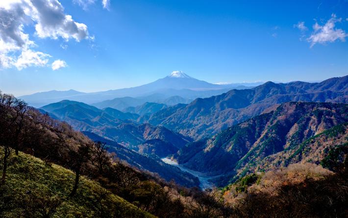 Download Wallpapers 4k Japan Mount Tanzawa Mount Fuji