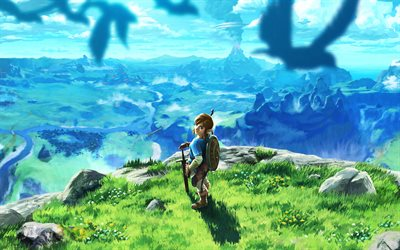 The Legend of Zelda, Breath of the Wild, 2017, poster, new game, fairy world, dragon, characters