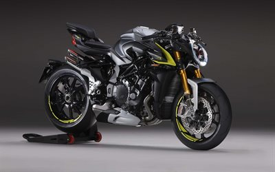 MV Agusta Brutale 1000 RR, 2020, Italian motorcycle, ront view, black sports bike, new black Brutale 1000 RR, MV Agusta