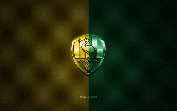Download Wallpapers Ado Den Haag Dutch Football Club Eredivisie Green Yellow Logo Green Yellow Carbon Fiber Background Football The Hague Netherlands Ado Den Haag Logo For Desktop Free Pictures For Desktop Free
