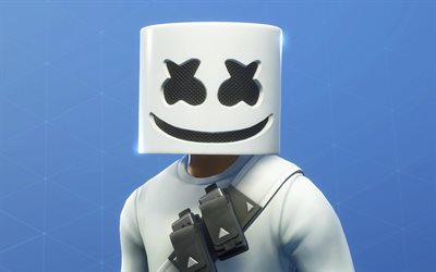 marshmello fortnite, fan-kunst, fortnite battle royale, 2019-spiele, marshmello haut, fortnite, marshmello