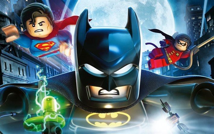Download wallpapers Batman, Superman, Robin, 2017 movie, 3d ...