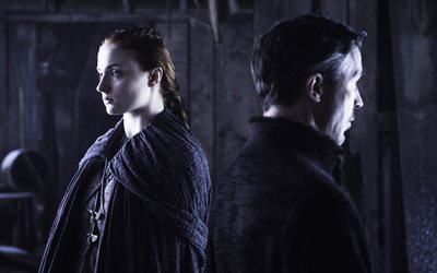 Sansa Stark, Petyr Baelish, 4k, Game Of Thrones