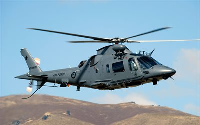 AgustaWestland AW109, Hirundo, Turbomeca Arrius, 4k, light helicopter, transport helicopter, USA