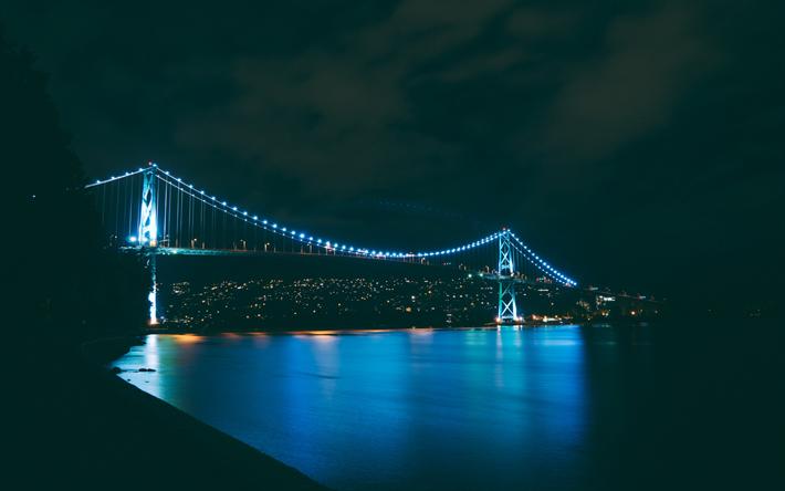Download Wallpapers 4k Golden Gate Bridge Illuminations