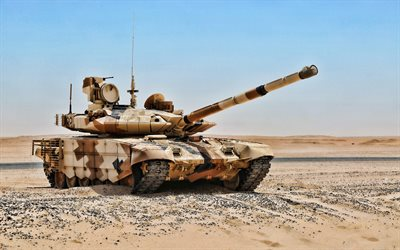 T-90, desert, tanks, Russian MBT, Russian Army, sand camouflage, T-90 Vladimir, armored vehicles