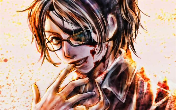Download Wallpapers Hange Zoe Squad Leader Attack On Titan Artwork Shingeki No Kyojin Manga Hange Zoe Attack On Titan For Desktop Free Pictures For Desktop Free