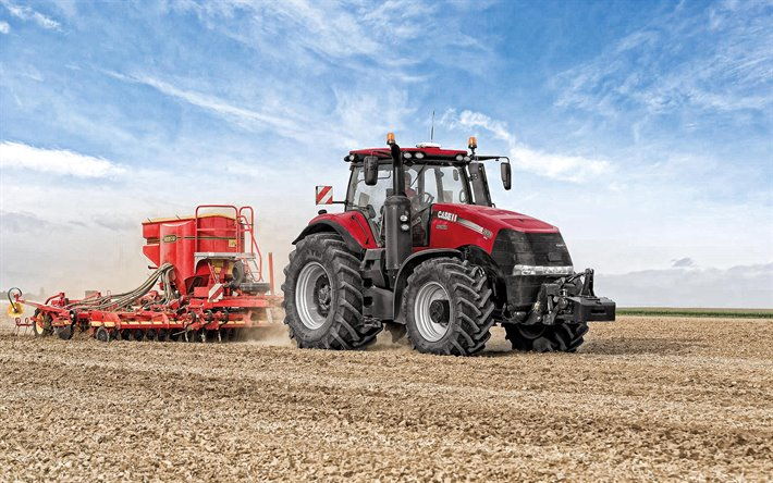 Case IH Magnum 380 CVT, sowing, tractor, sowing seeds, agricultural machines, modern tractors, Case