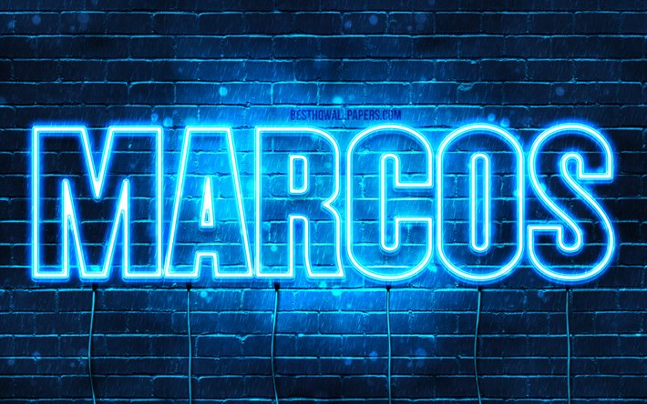 Download wallpapers Marcos, 4k, wallpapers with names ...