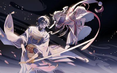 Touken Ranbu, Tourabu, Browser game, characters