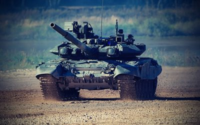 T-90A, Russian main battle tank, range, Russian army, modern armored vehicles